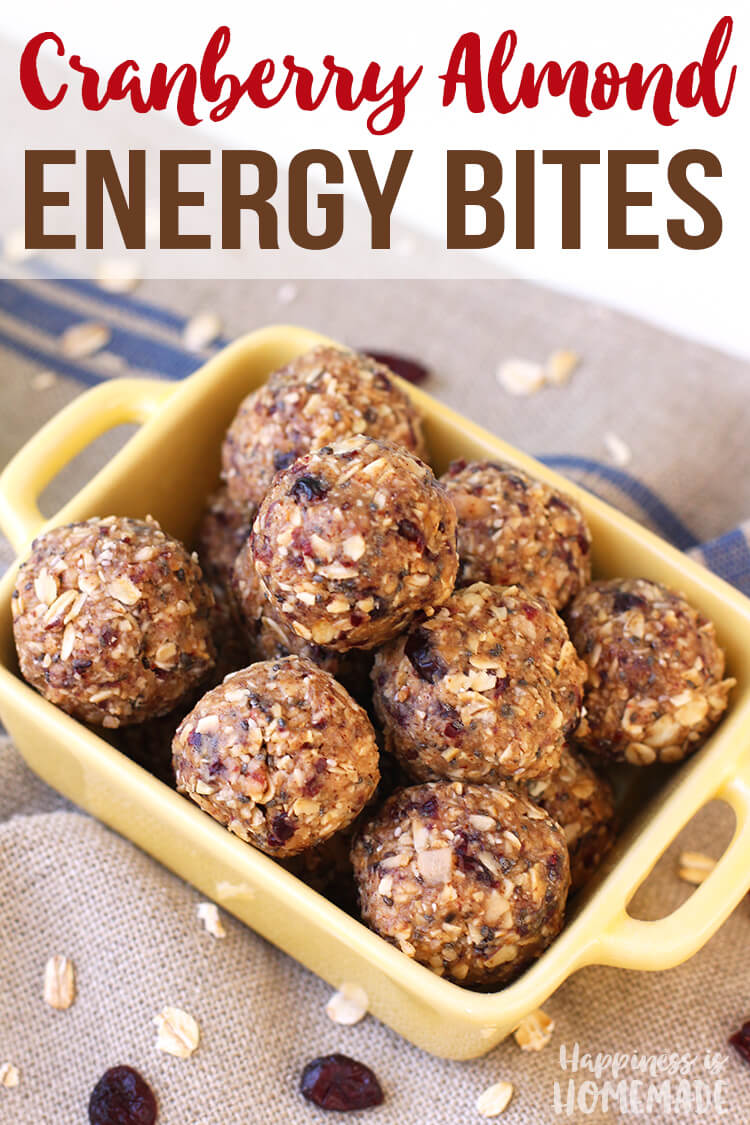 Cranberry Almond Protein Energy Bites