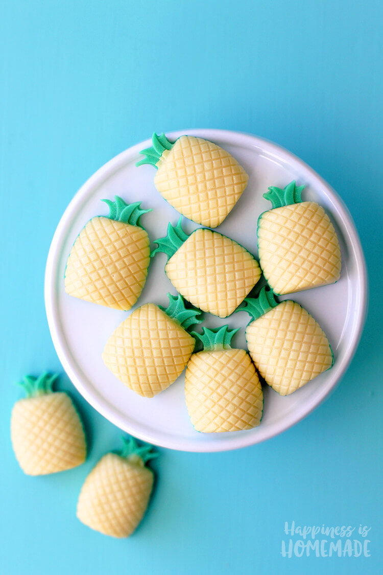 DIY Piña Colada Mini Pineapple Soaps - Happiness is Homemade