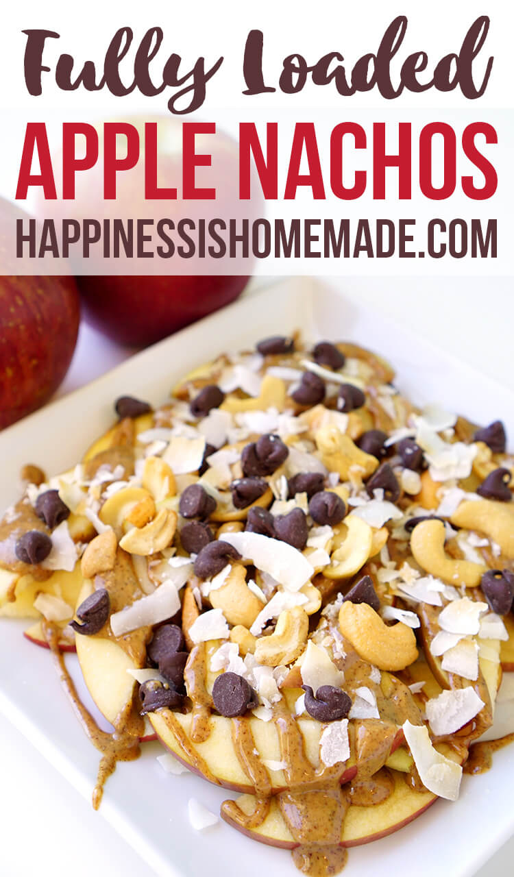 Fully Loaded Apple Nachos for After School Snacks