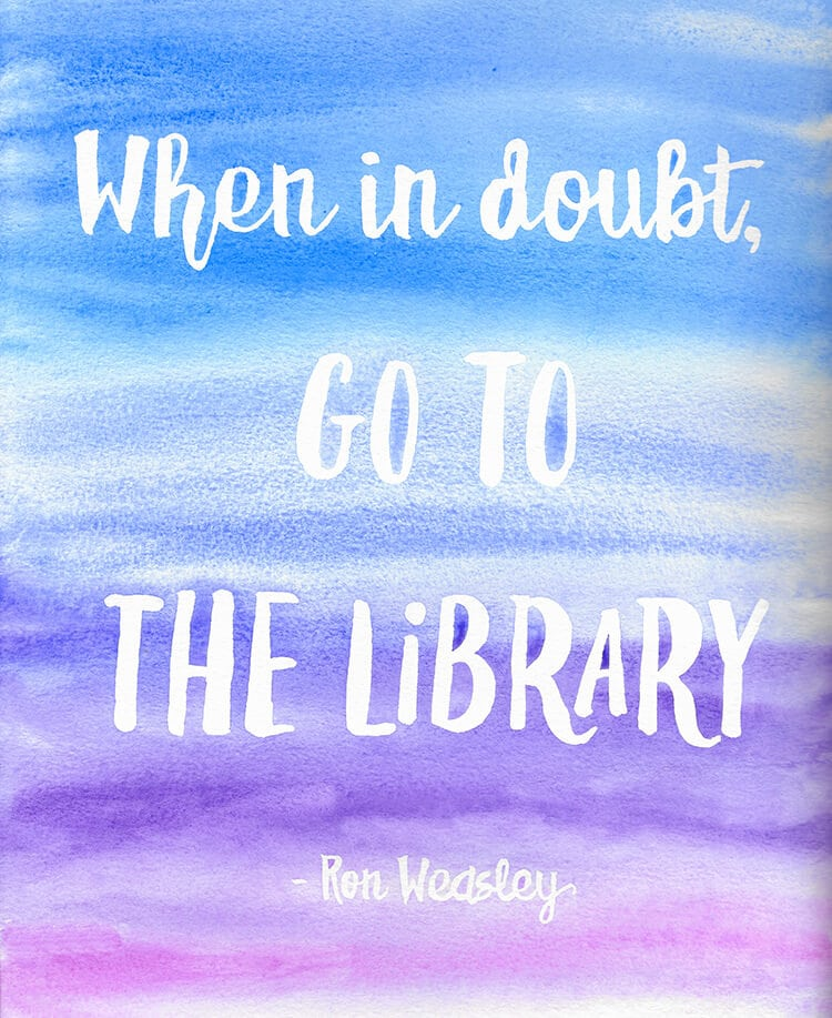 Harry Potter Watercolor Quote