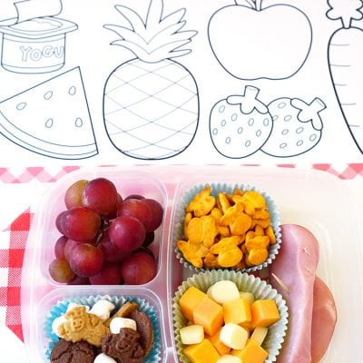 Picnic Coloring Placemats + Grab 'N' Go Lunches
