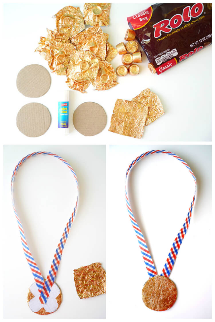 How to Make a Candy Wrapper Gold Medal Kids Craft
