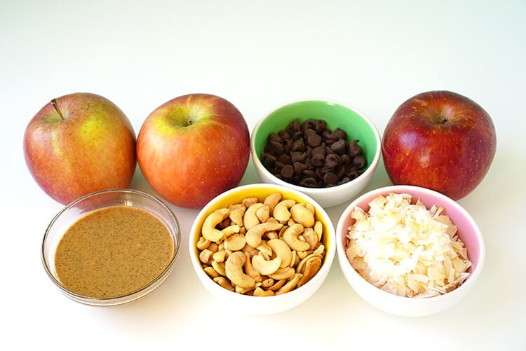 Ingredients to Make Apple Nachos