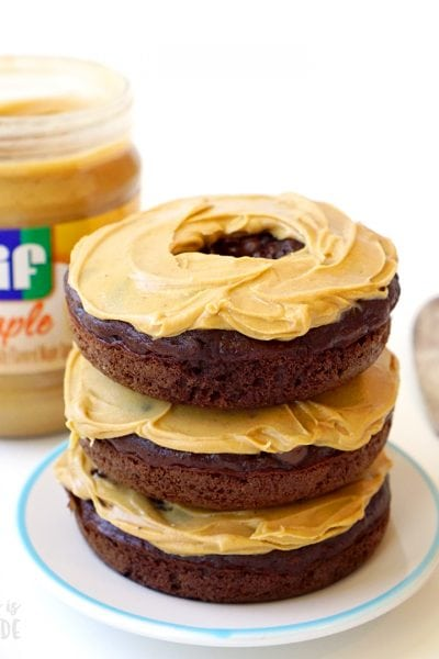 Maple Peanut Butter Chocolate Donuts