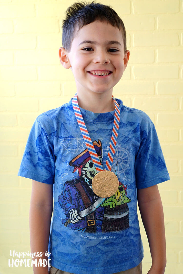 Kid Made Gold Medal Craft