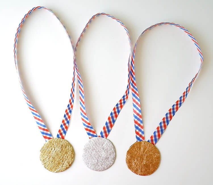 Kid Made Gold Silver and Bronze Medals