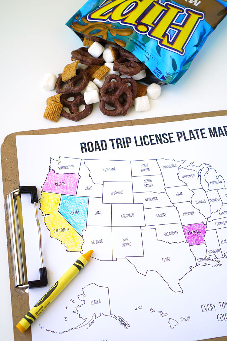 It's just a photo of Geeky Printable Road Trip Maps