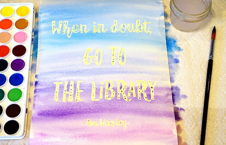 Watercolor Resist Harry Potter Quote