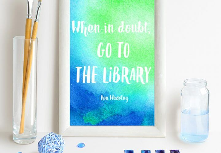 Watercolor Resist Harry Potter Quotes