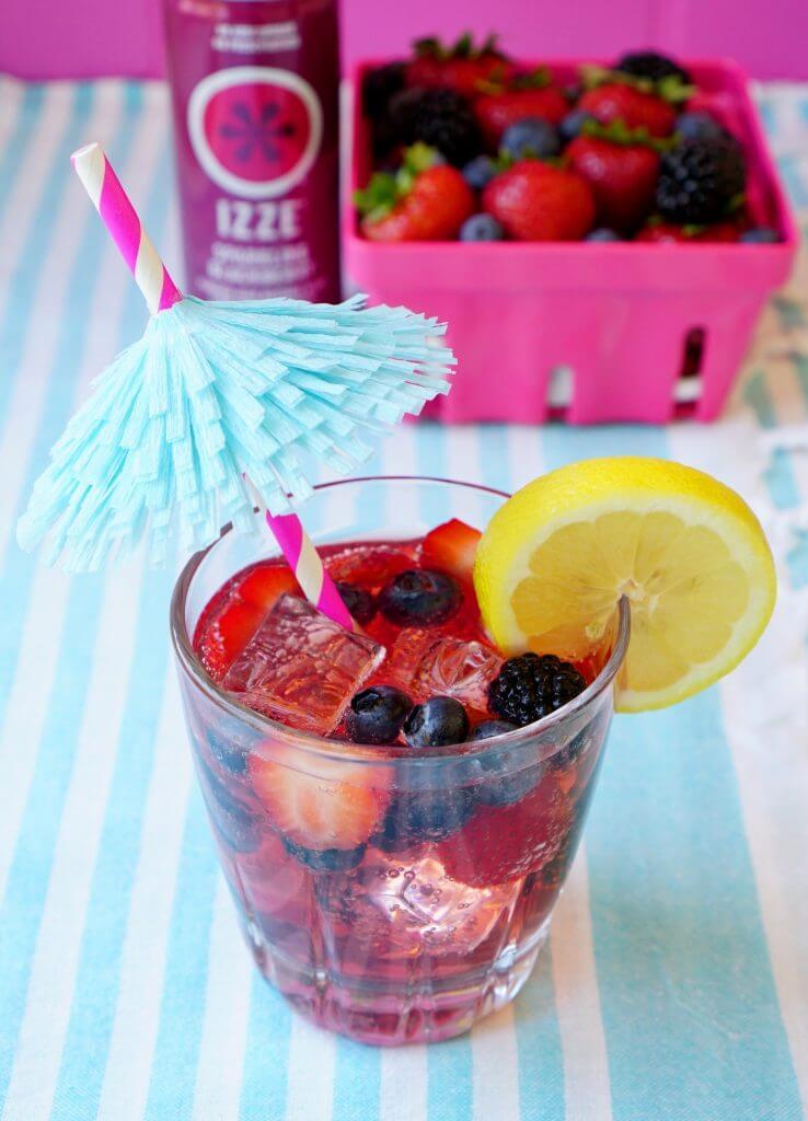 Berry Sparkler IZZE Cocktail