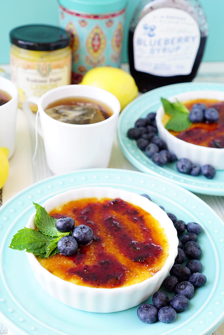 Blueberry and Lemon Creme Brulee