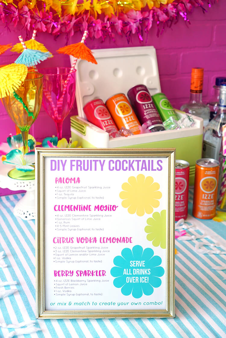 DIY IZZE Cocktail Recipes