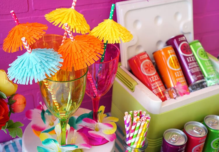 Easy DIY Tiki Drink Umbrellas