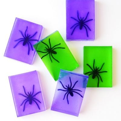 Spooky Spider Soap Halloween Craft