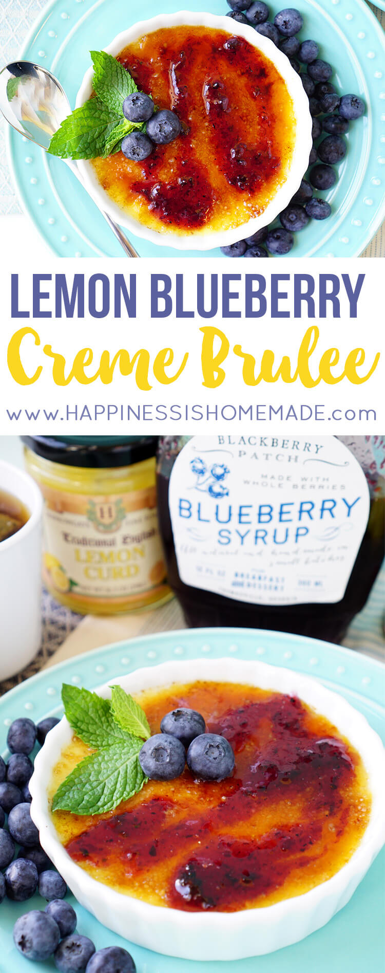 Lemon Blueberry Creme Brulee Recipe