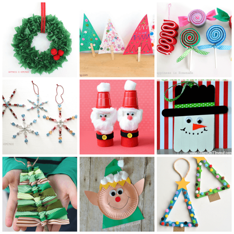 Kids Christmas.Easy Christmas Kids Crafts That Anyone Can Make Happiness