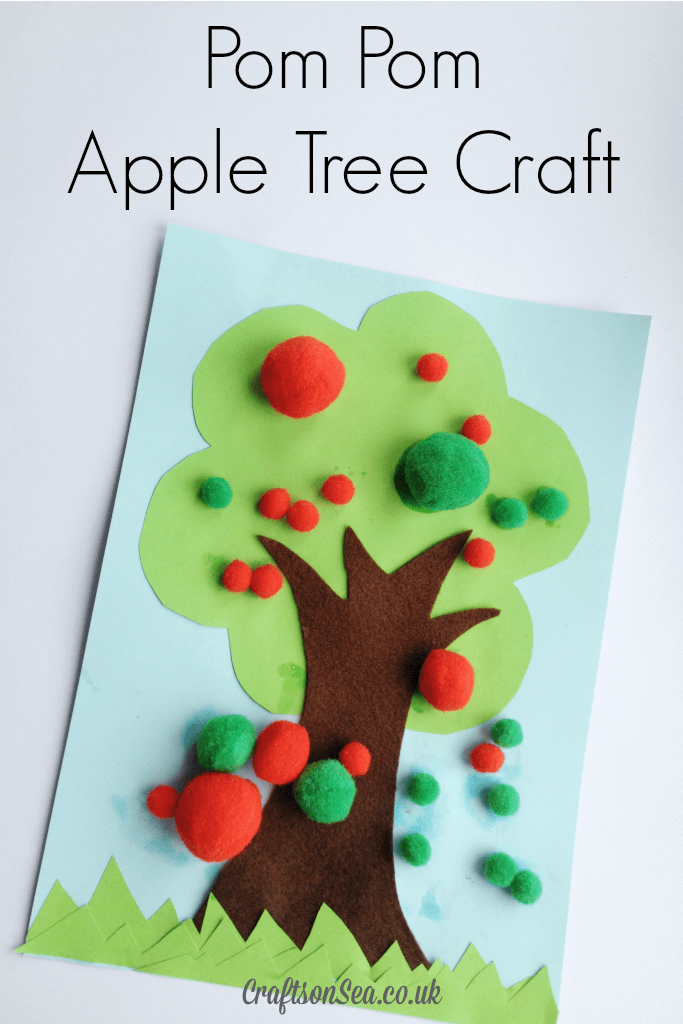 Pom-Pom-Apple-Tree-Craft