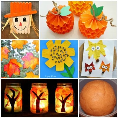 Easy Fall Kids Crafts That Anyone Can Make!
