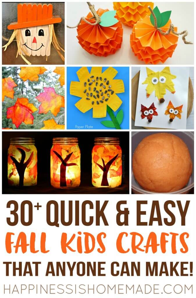 Quick and Easy Fall Autumn Kids Craft Ideas That Anyone Can Make 2