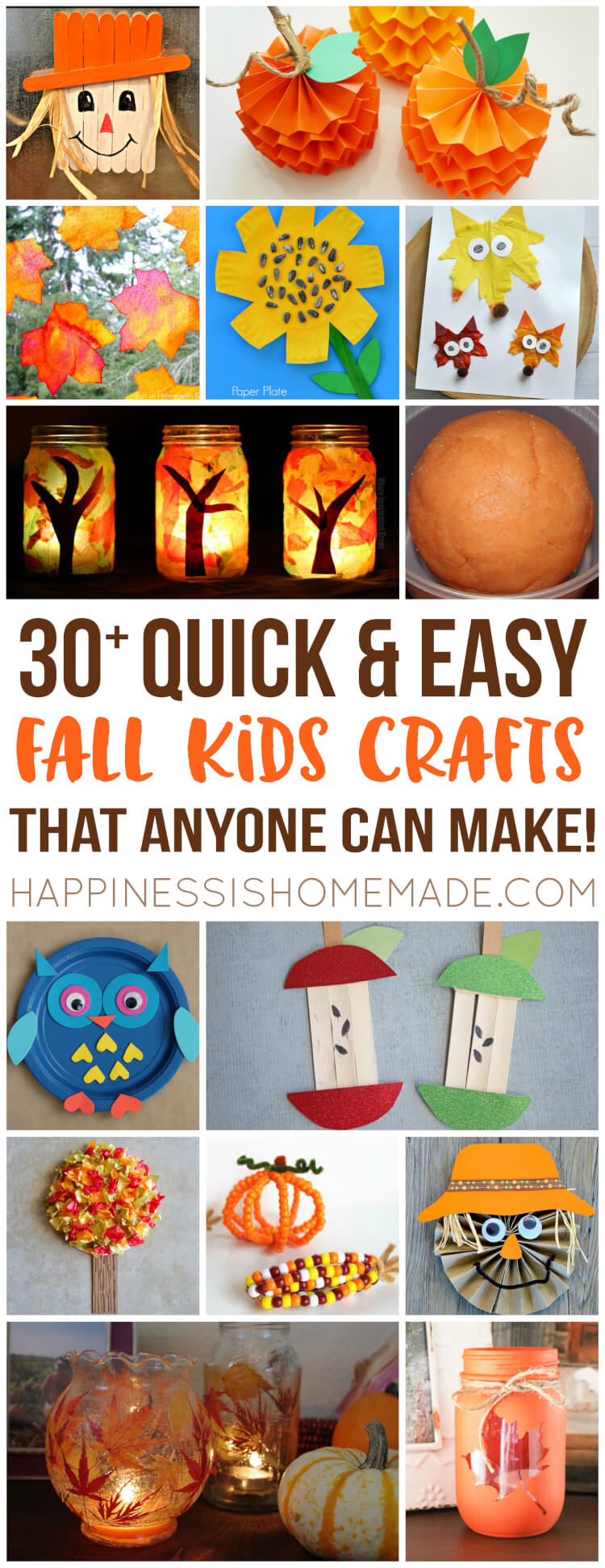 Simple Fall Wreath: Easy Fall Kids Crafts That Anyone Can Make!