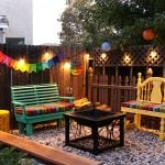 Colorful Outdoor Entertaining Area
