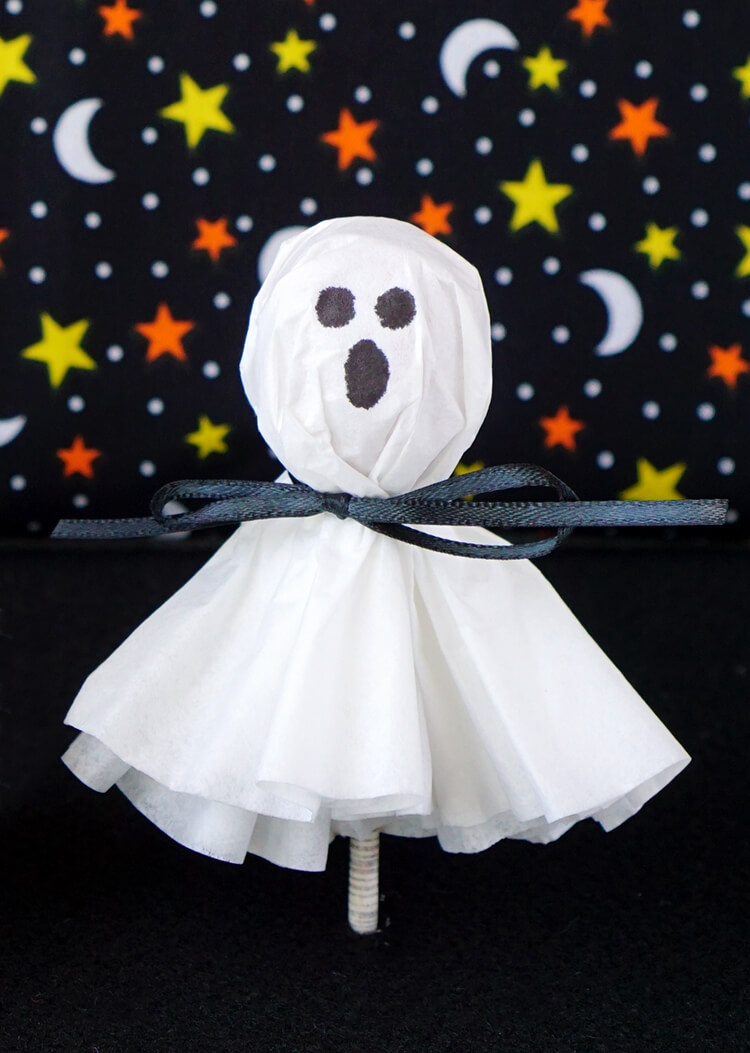 Coffee Filter Ghost Lollipops Happiness Is Homemade