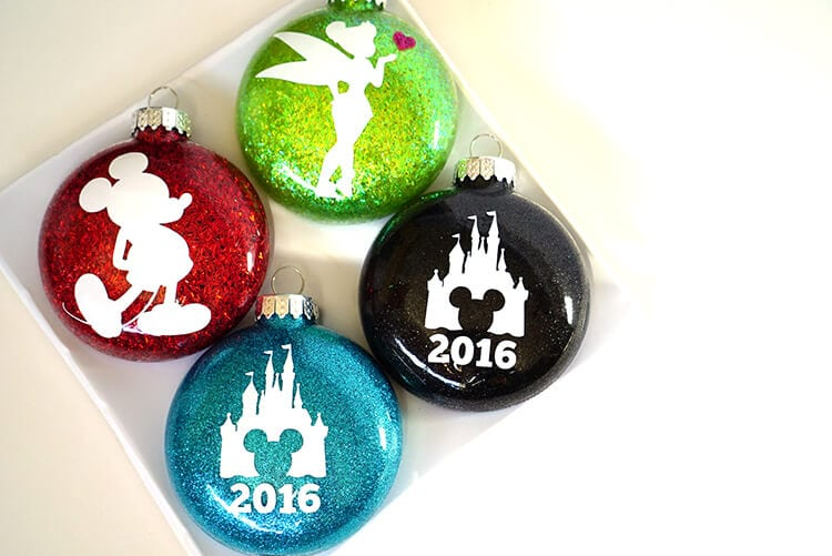 disney-silhouette-glitter-christmas-ornaments