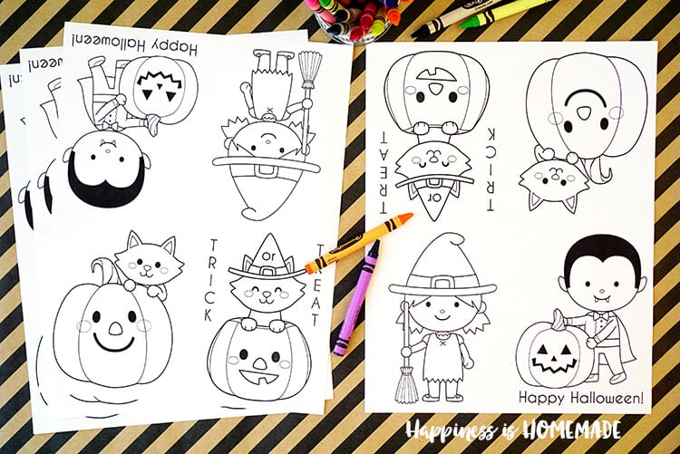 Halloween coloring book sheets printables