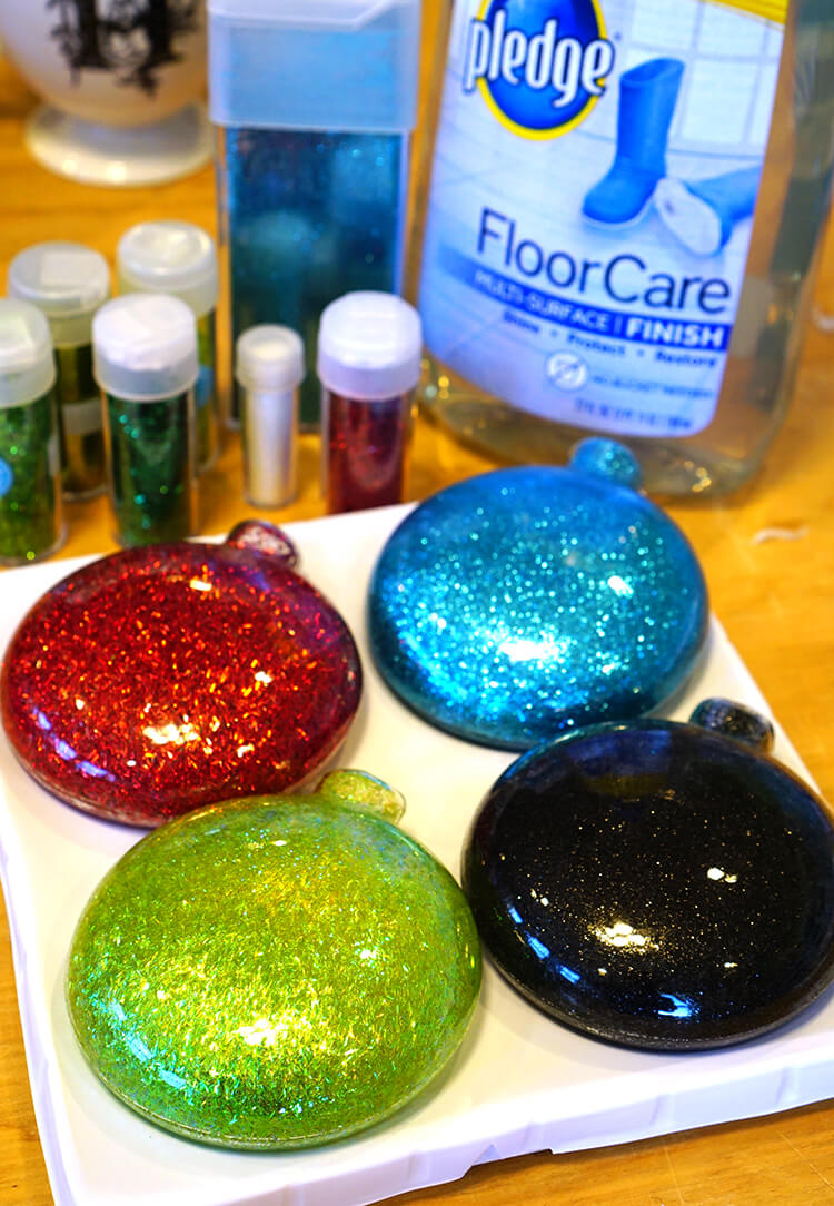 disney glitter christmas ornaments happiness is homemade. Black Bedroom Furniture Sets. Home Design Ideas