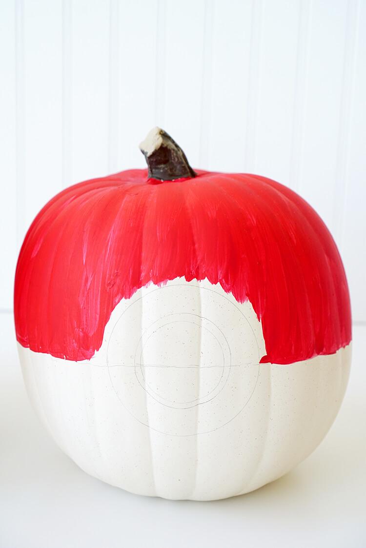 how-to-make-a-pokeball-pokemon-pumpkin