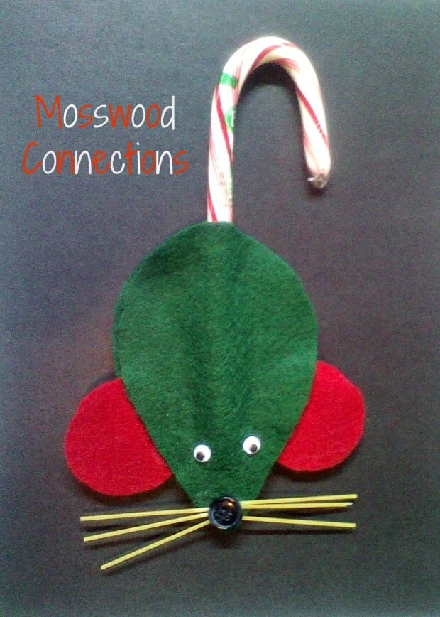 kid-made-green-mice-christmas-ornaments