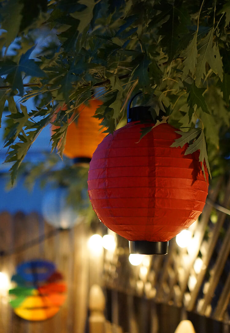 Lanterns and Cafe Lights