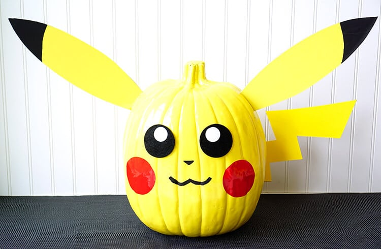 Pikachu Pokeball Painted Pokemon Pumpkins