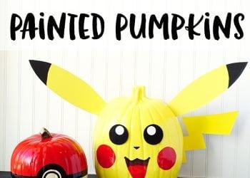Pokemon Pumpkins: Pikachu + Pokeball
