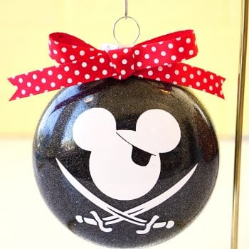 Disney Glitter Christmas Ornaments