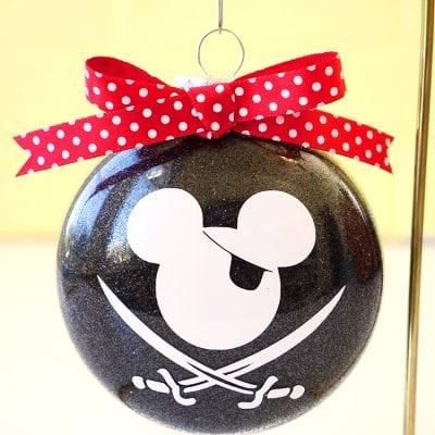 Disney Glitter Christmas Ornaments
