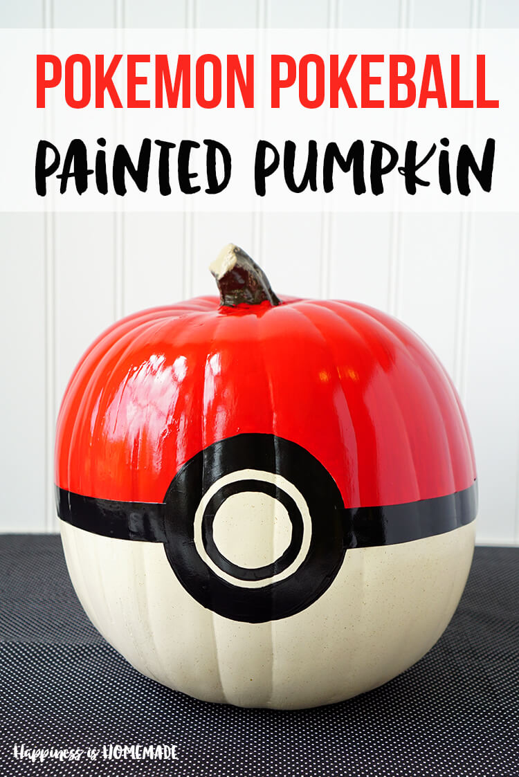 Pokeball pumpkin stencil