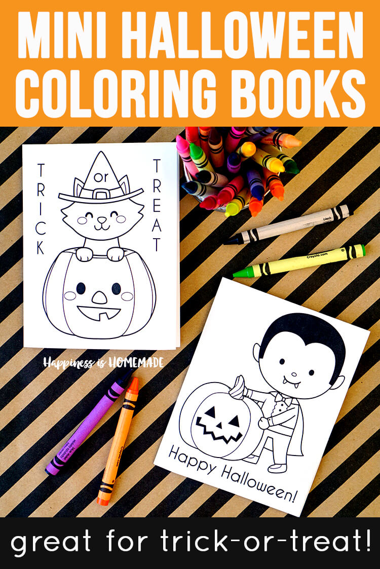 Printable Mini Halloween Coloring Books Great For Trick