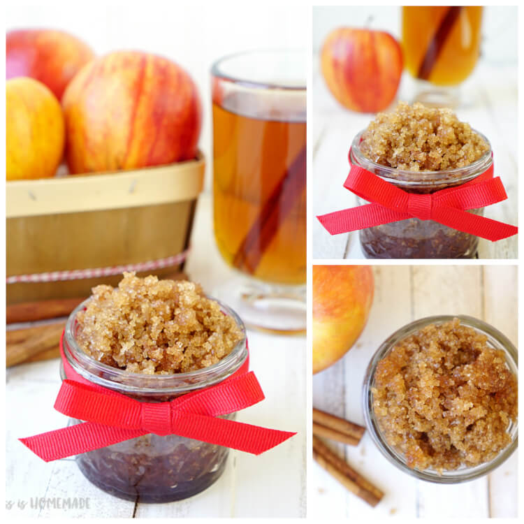 Spiced Apple Cider Sugar Scrub - Happiness is Homemade