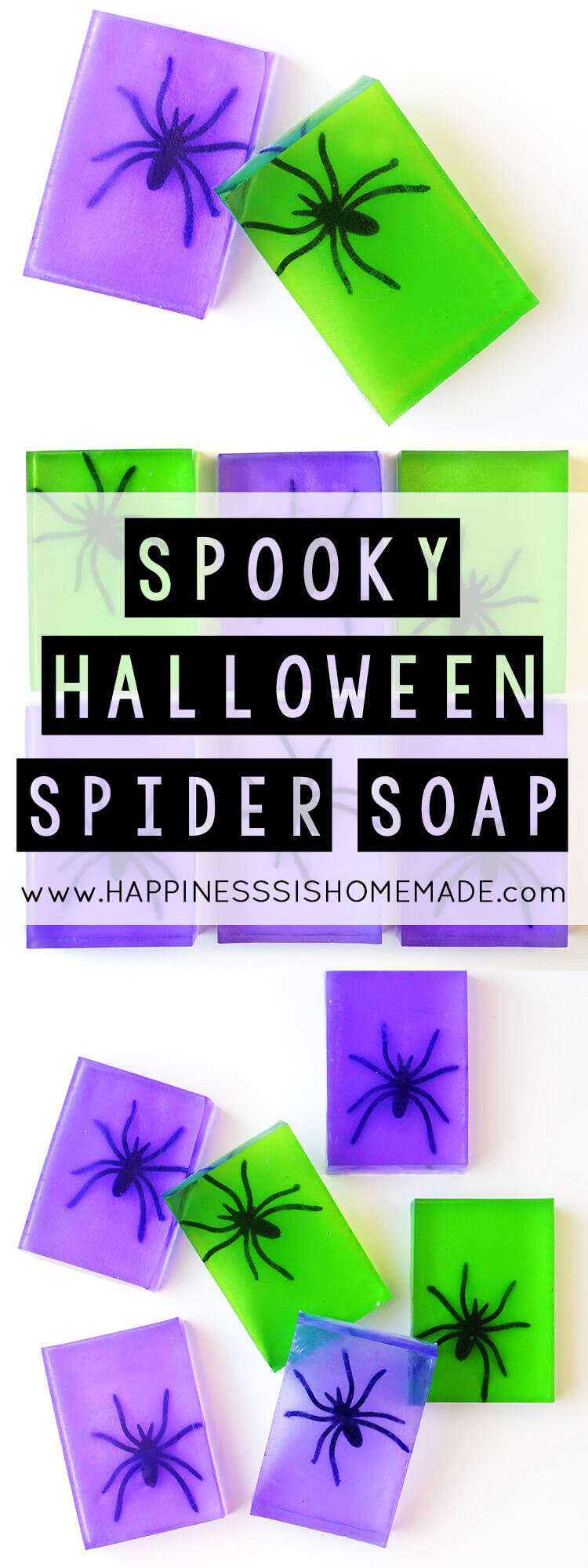 Spooky Spider Soap Halloween Craft - Happiness is Homemade