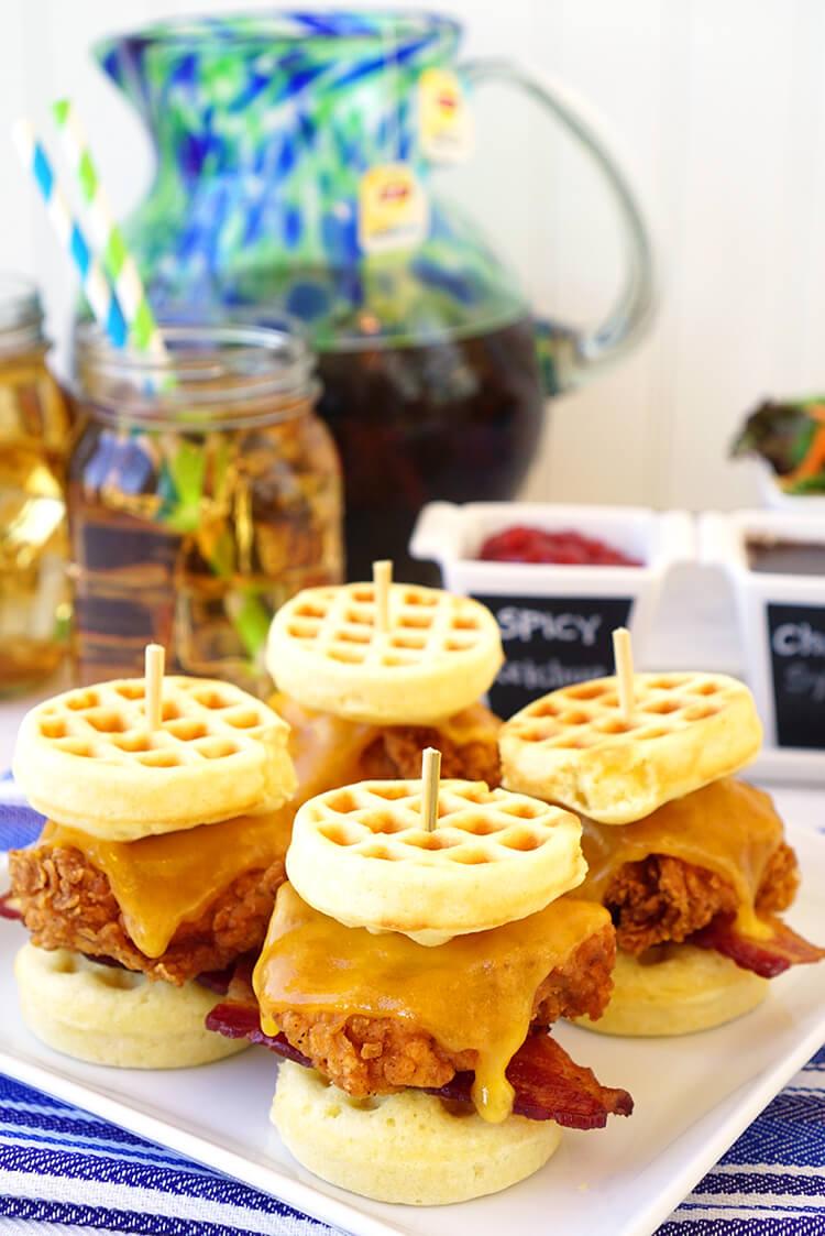 chicken-and-waffle-slider-sandwiches