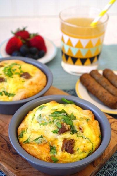 Kids Cook: Deep Dish Breakfast Pizzas