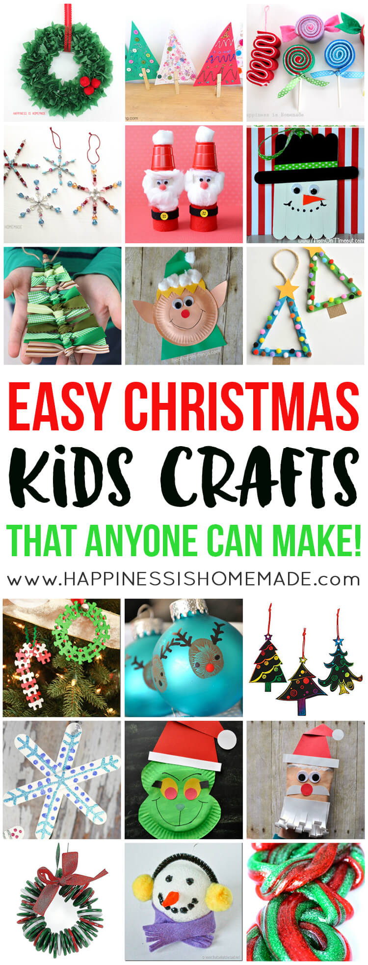 Easy fall kids crafts that anyone can make happiness is for Christmas crafts you can make at home