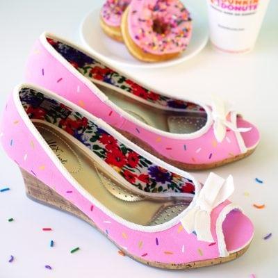 Pink Sprinkled Donut Shoes