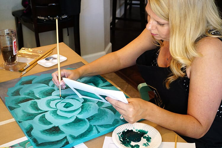 Host Your Own Wine Paint Party Happiness Is Homemade