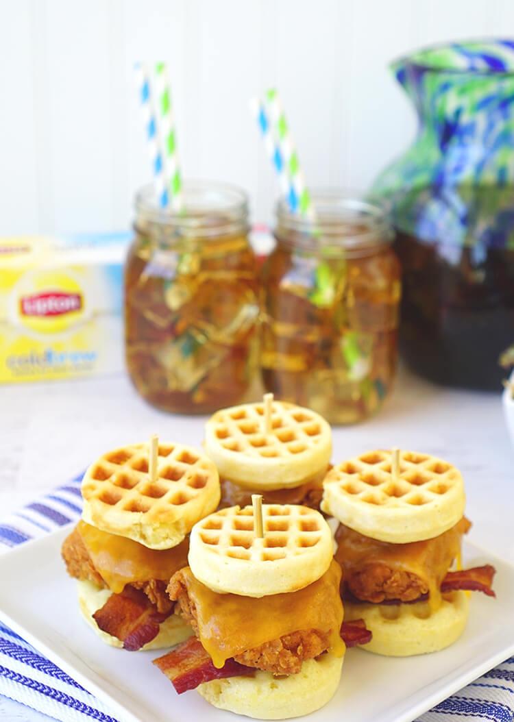 lipton-iced-tea-and-chicken-waffle-sliders