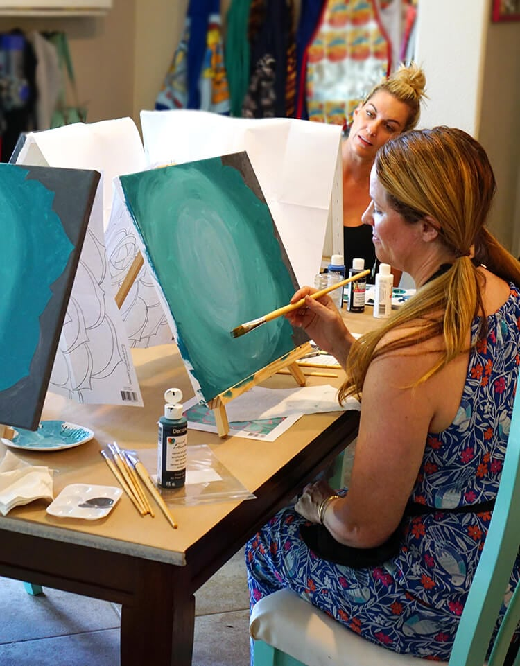 Host Your Own Wine Paint Party Hiness Is Homemade