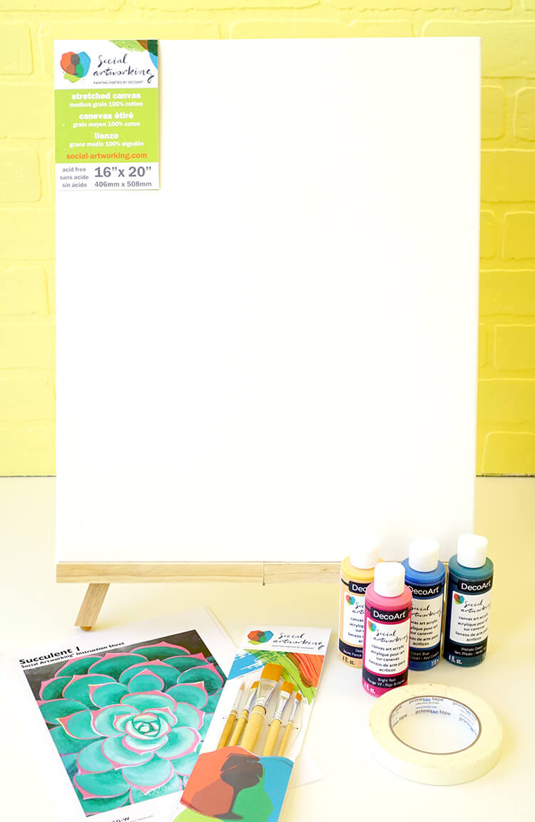 Social Artworking Painting Party Supplies