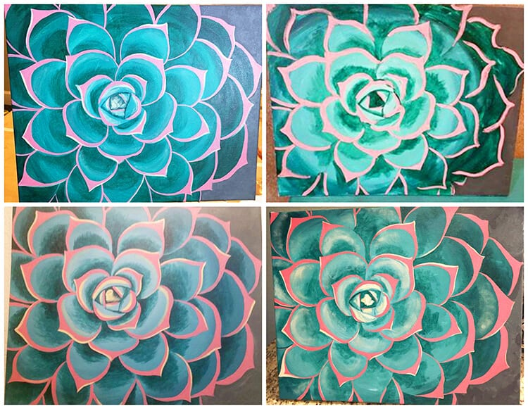 succulent-paintings