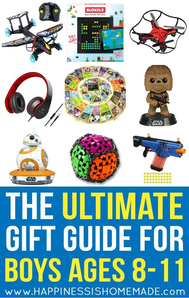 The Ultimate Gift Guide for Boys Ages 8-11 - Looking for gift ideas for an 8, 9, 10, or 11-year-old boy? Look no further! Only the very best of the best present ideas are included in this ULTIMATE gift guide for tween boys – perfect for birthdays, Christmas, and holidays!